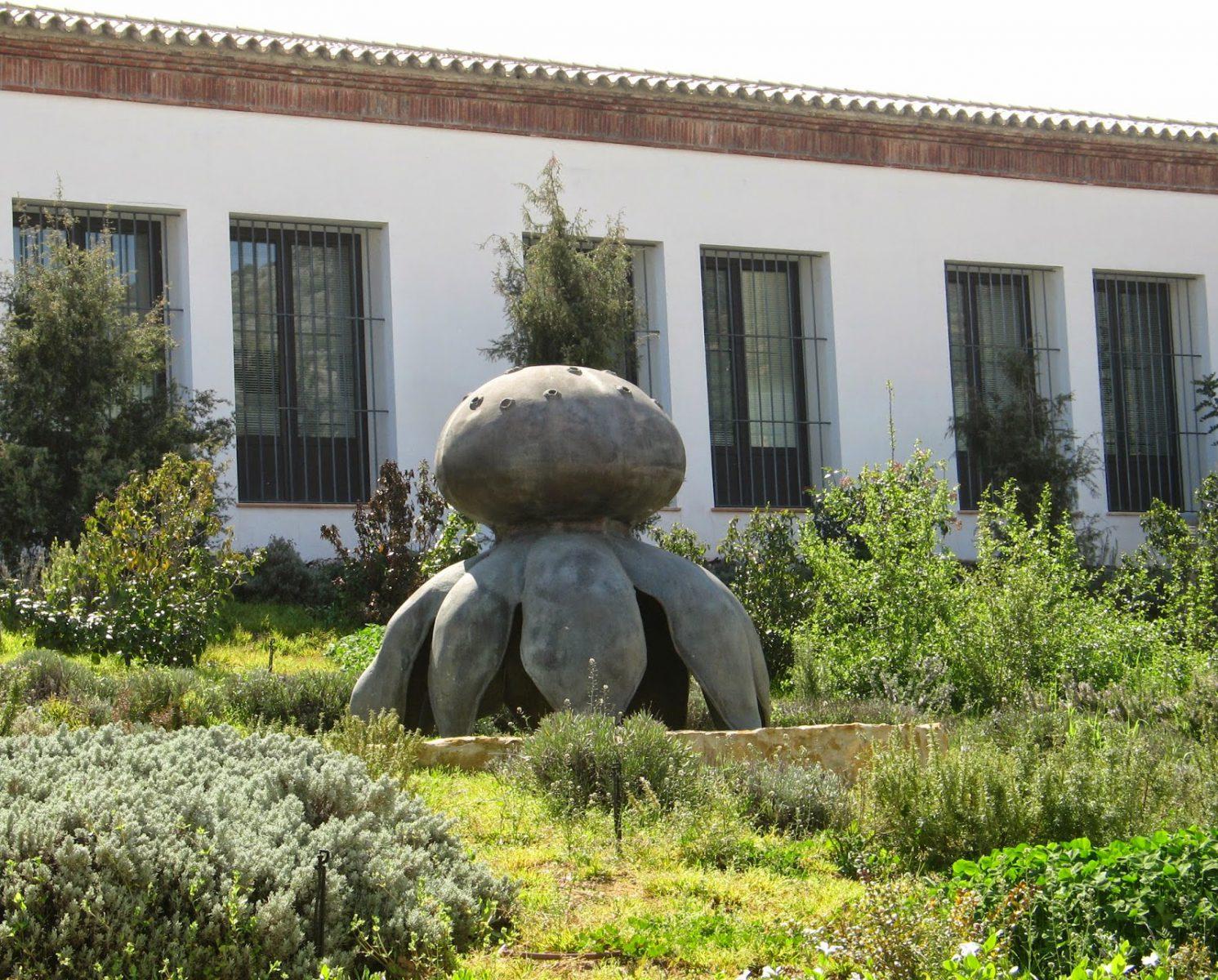 Escultura myriostoma coliforme seta salero marcos for Jardin micologico la trufa