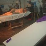 Modelado con arcilla de cuerpo humano